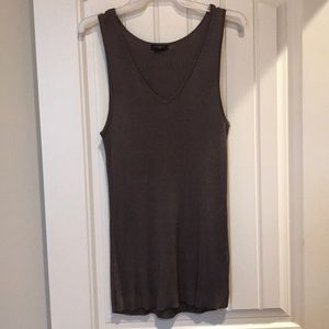 Pewter/bronze tank top